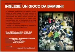 volantino intervento formativo organizzato da Fism Bologna 27-28 febbraio 2015